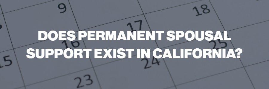 permanent alimony in California